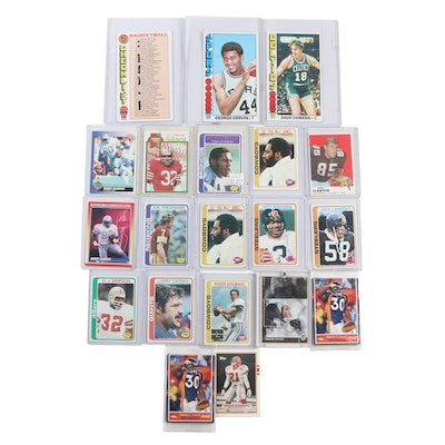 1970's NFL and NBA Trading Cards Including Barry Sanders, Joe Theisman, and more