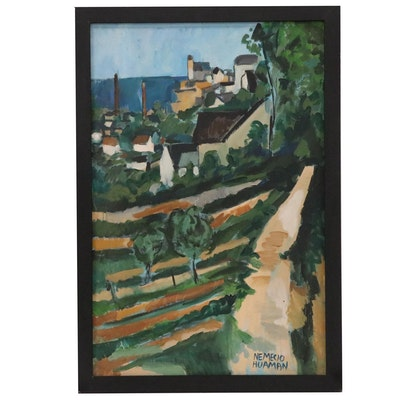 Nemecio Huaman Landscape Oil Painting