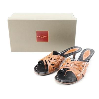 Cole Haan Tahiti Thong Sandal in Saddle Tan Leather