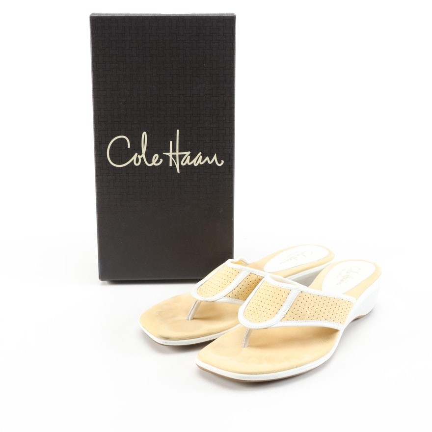 Cole Haan Air Fae Thong Sandal in Pale Yellow with Box