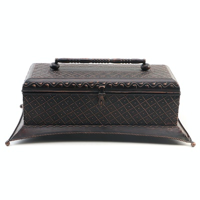 Large Decorative Metal Box, Contemporary