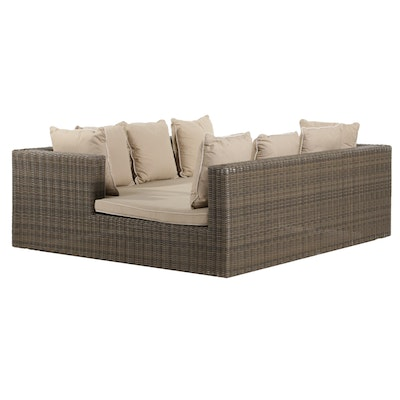 Frontgate All Weather Wicker Face-to-Face Double Chaise Lounge, 21st C