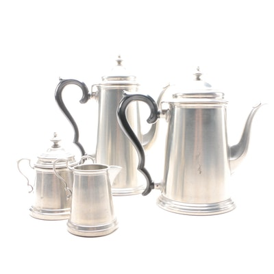 International Silver Pewter Tea and Coffee Service