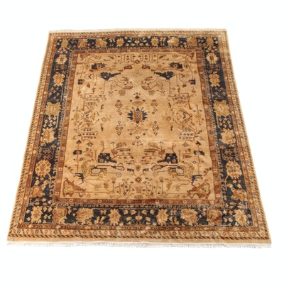 8'0 x 10'5 Hand-Knotted Indian Mahal Wool Rug