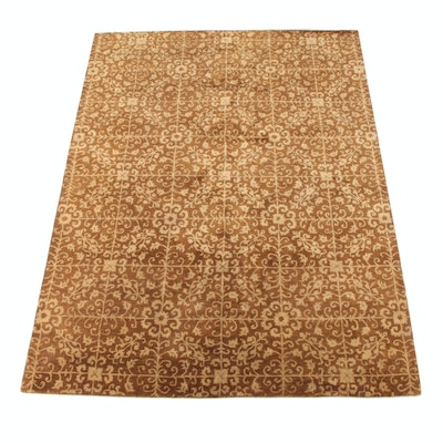 """8'1 x 11'0 Hand-Tufted Indian """"Montmartre"""" Wool Rug"""