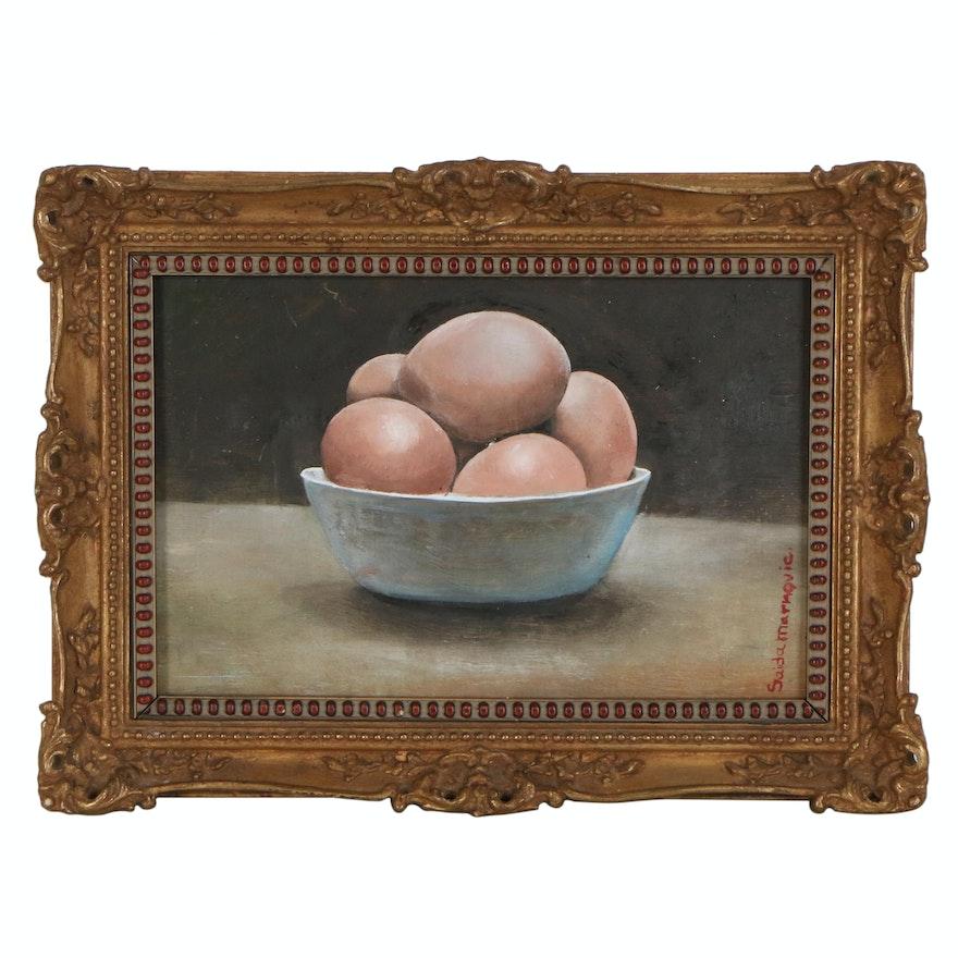 Saida Markovic Still Life Oil Painting, 21st Century