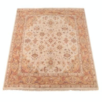 7'9 x 10'2 Hand-Knotted Indian Mahal Wool Rug