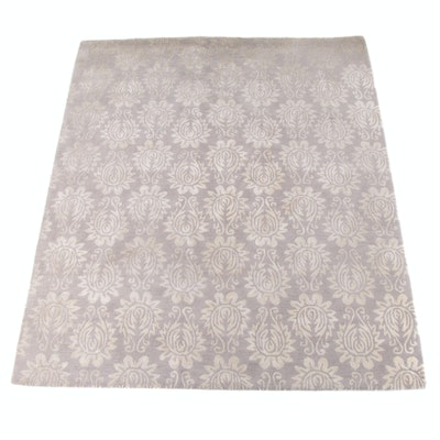 8'0 x 10'0 Hand-Tufted Floral Wool Rug