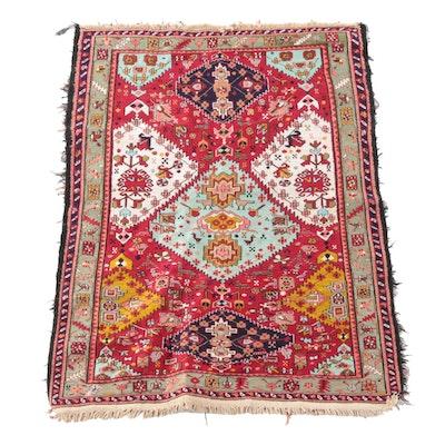 3'7 x 5'0 Handwoven Caucasian Shirvan Soumak Wool Rug