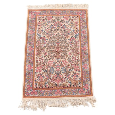 3'2 x 5'7 Hand-Knotted Persian Tabriz Tree of Life Wool Rug