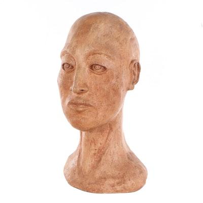 Figural Ceramic Bust, 21st Century