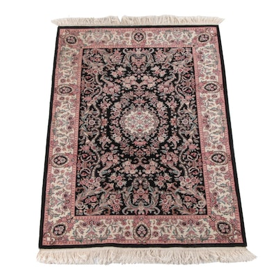 4'0 x 6'8 Hand-Knotted Chinese Floral Wool Rug