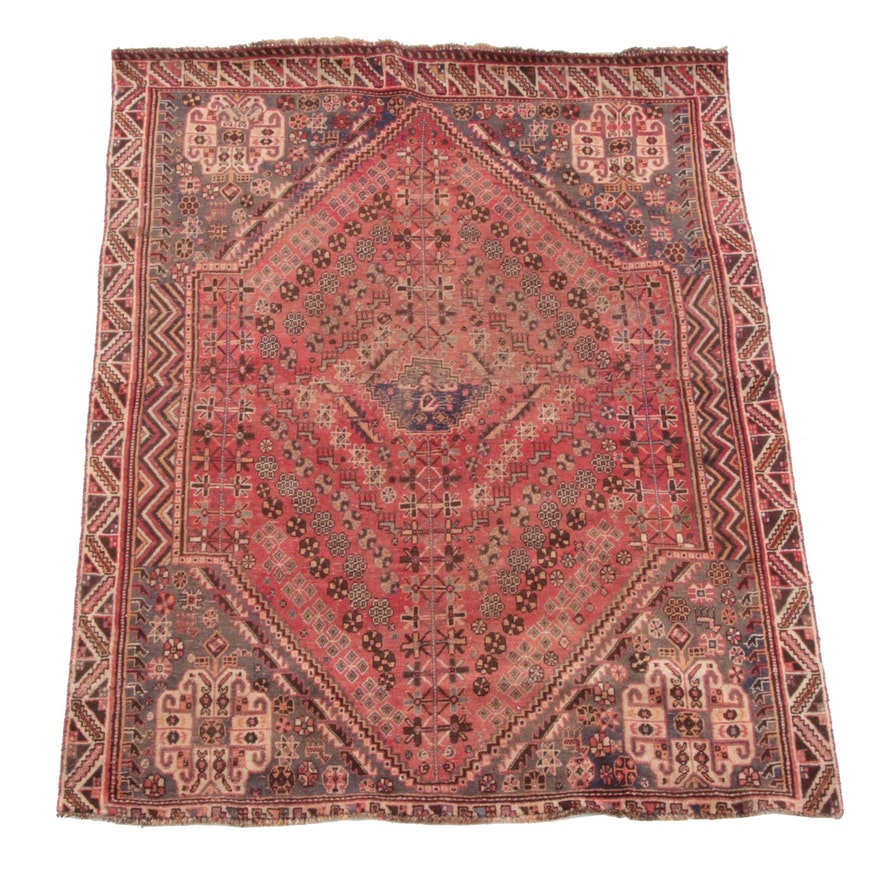 5'2 x 6'11 Hand-Knotted Persian Abadeh Composite Wool Rug