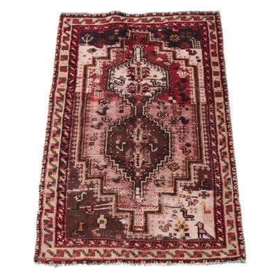3'1 x 4'8 Hand-Knotted Persian Afshar Wool Rug