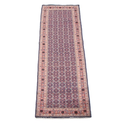 3'6 x 10'7 Hand-Knotted Persian Hamadan Wool Long Rug