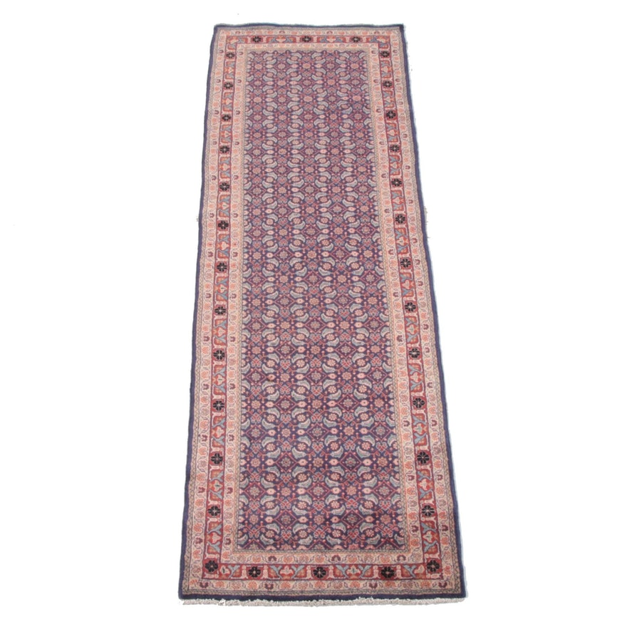 3'6 x 10'7 Hand-Knotted Persian Hamadan Wool Long Rug