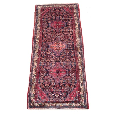 3'9 x 9'6 Hand-Knotted Persian Gogarjin Wool Long Rug
