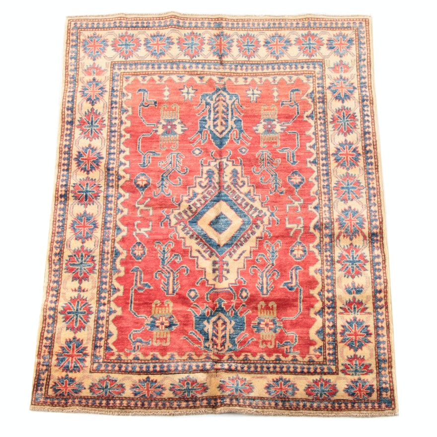 3'11 x 5'3 Hand-Knotted Caucasion Genji Wool Rug