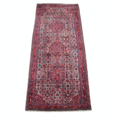 4'3 x 10'1 Hand-Knotted Persian Gogarjin Wool Long Rug