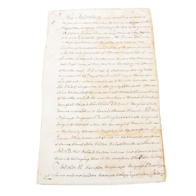 1706 Documents of Indenture from Great Britain