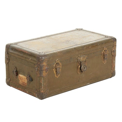 Hartman Metal Travel Trunk, Early 20th Century