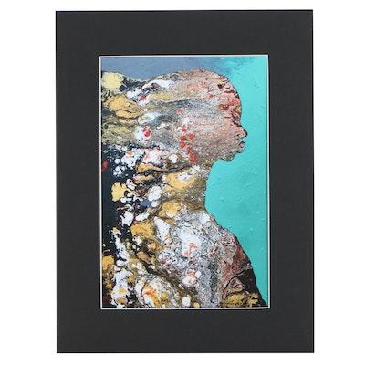Abiola Idowu Abstract Giclée, 21st Century