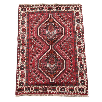 3'6 x 5'4 Hand-Knotted Persian Kelardasht Wool Rug