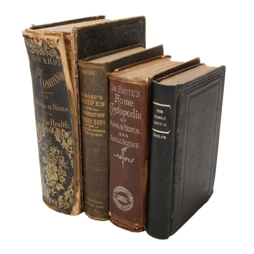 Domestic Medical Books, Mid to Late 19th Century