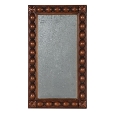 Decorative Wood Framed Ball Molded Mirror, Late 20th Century