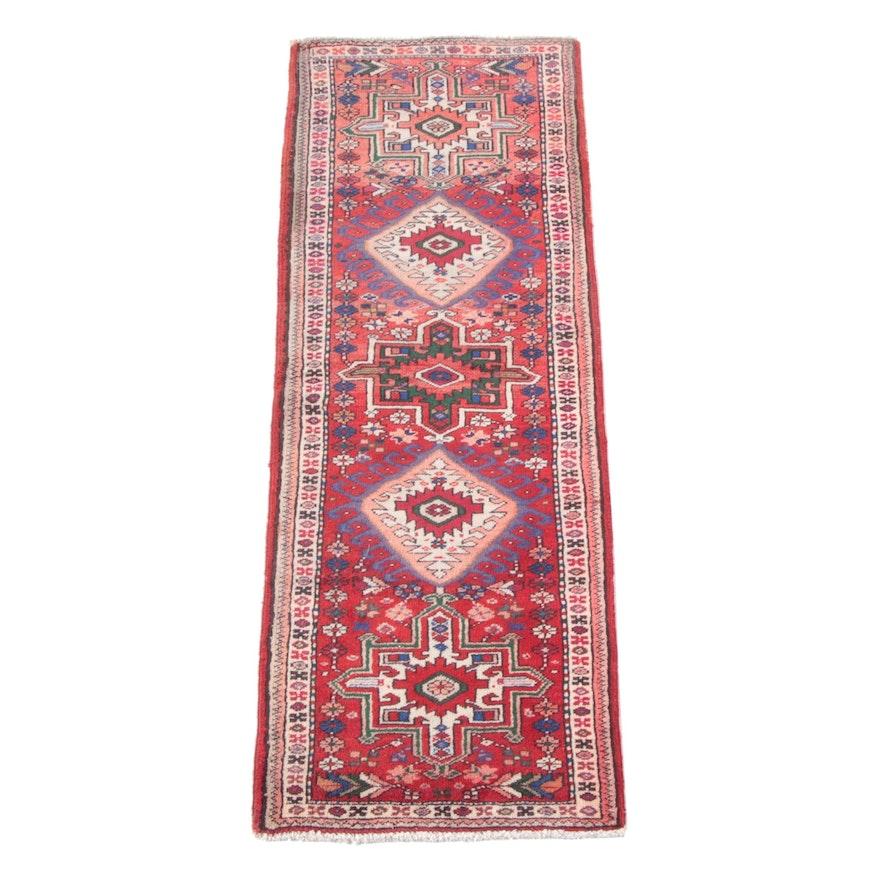 2'5 x 7'0 Hand-Knotted Persian Karaja Wool Carpet Runner