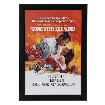 """""""Gone with the Wind"""" Offset Lithograph Reproduction Poster"""
