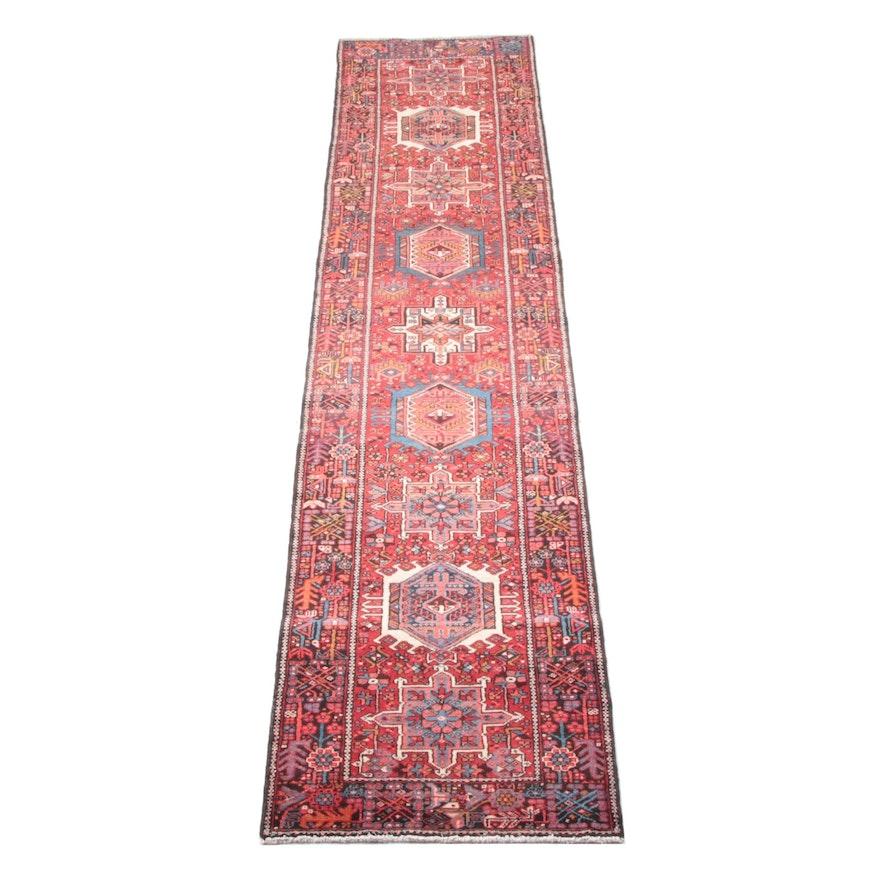 3'5 x 15'4 Hand-Knotted Persian Karaja Wool Long Rug