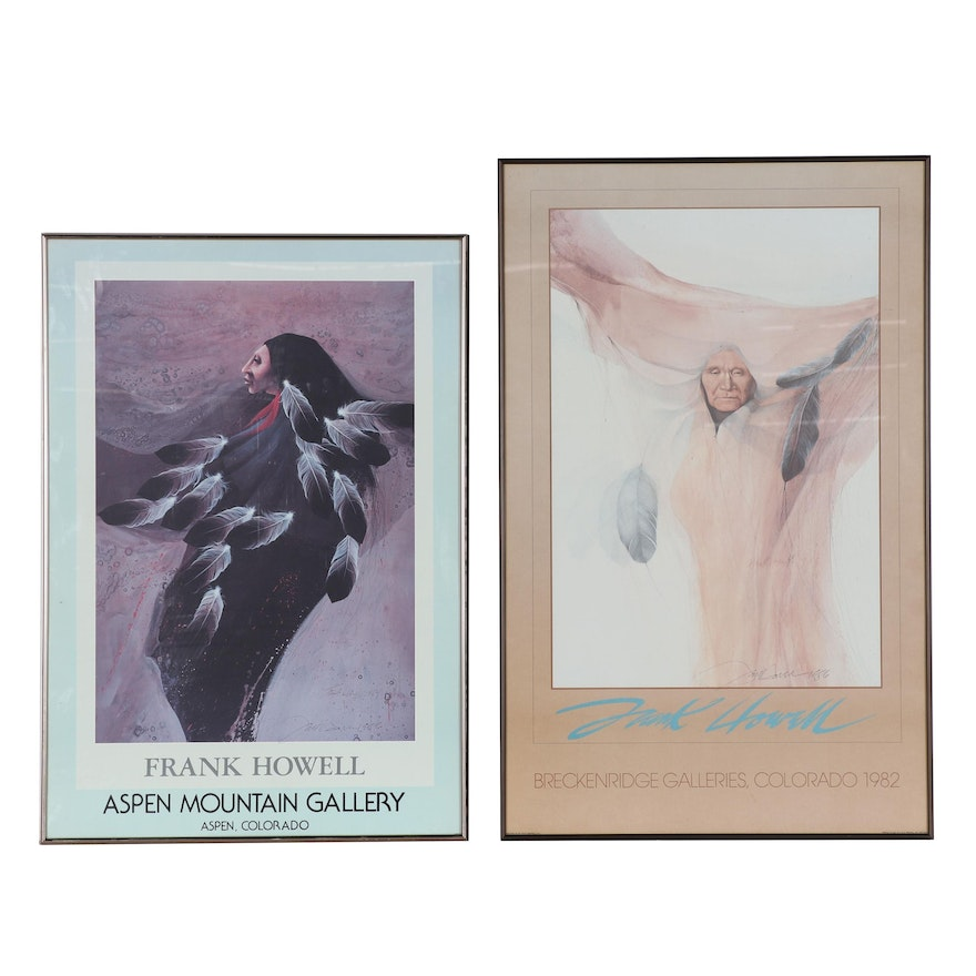 Frank Howell Offset Lithograph Exhibition Posters, 1986