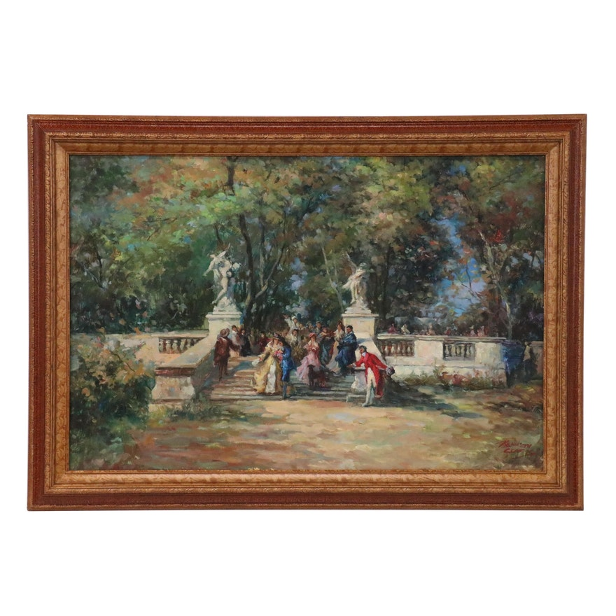 Kenneth Clarke Impressionist Style Landscape Oil Painting, 21st Century