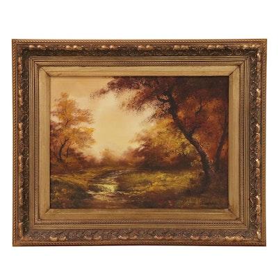 Irene Cafieri British School Style Landscape Oil Painting, 21st Century