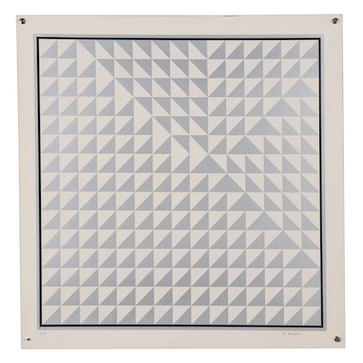 Bill Schiffer Geometric Abstract Serigraph, Late 20th Century