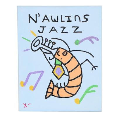 "Acrylic Painting ""N'Awlins Jazz"", 2019"