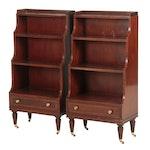 Pair of Baker Mahogany Bookshelves, Late 20th Century