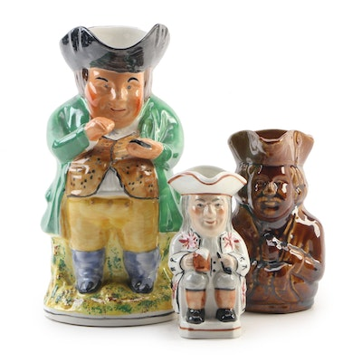 Tony Wood and Other Toby Style Character Jugs