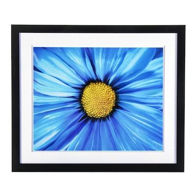 """Arra Bella Rose Flower Abstract Giclée """"Blue Daisy"""""""