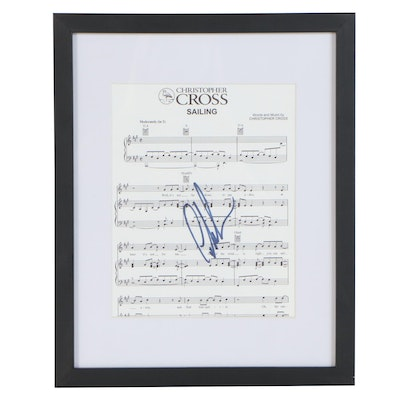 """Christopher Cross Autographed """"Sailing"""" Sheet Music Page"""