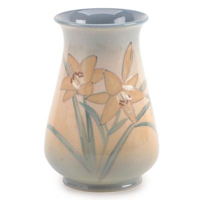 Kataro Shirayamadani for Rookwood Pottery Iris Glaze Floral Vase, 1946