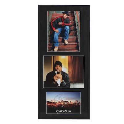 Jay Z, Chuck D, and DMC Autographed Photographs