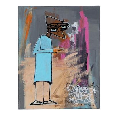Dr.Nuse89 Street Art Acrylic Painting, 2011