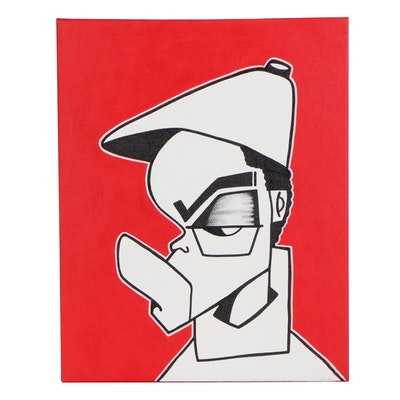 Dr.Nuse89 Street Art Graphic Style Acrylic Painting, 2011
