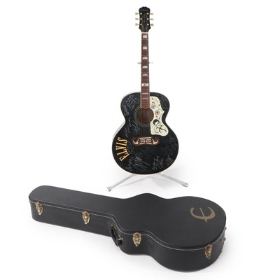 Epiphone Elvis Presley Limited Signed (Famous Impersonators) Guitar