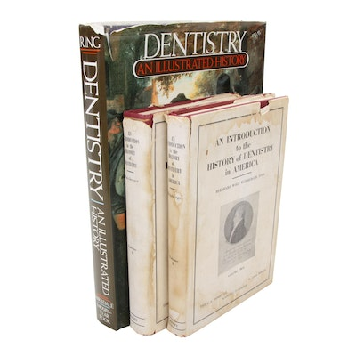 "Dentistry Books Including ""The History of Dentistry"" by B. W. Weinberger, 1948"