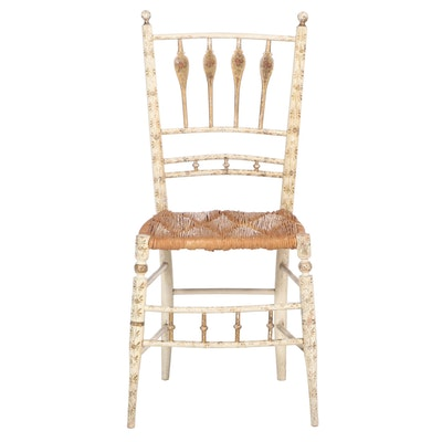 """Federal Paint-Decorated and Parcel-Gilt """"Fancy"""" Side Chair, Early 19th Century"""