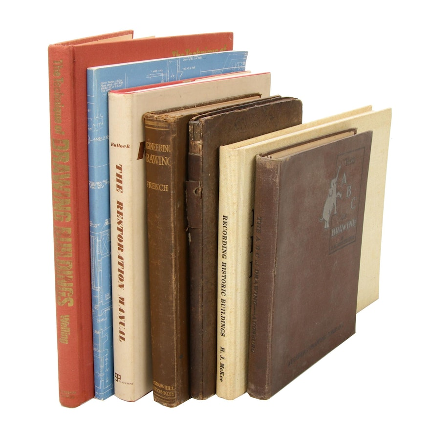 """Historic Preservation and Drafting Books Featuring """"The ABC of Drawing"""""""