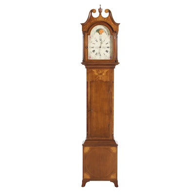 Henry Ford Museum Federal Style Tall Case Clock, Late 20th Century